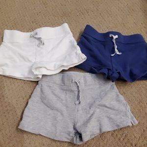 Three Pairs Carter's 5T shorts